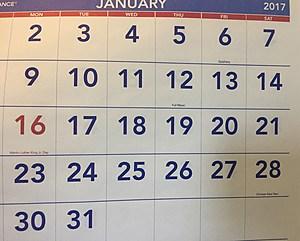 Calendar Credit:  JB Wilde